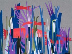 "Uganik, Cut Papers Collage, 12.5"" x 9.5"" © 2012"