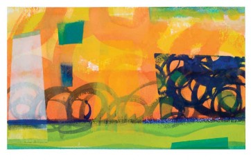 """Dreams of Summer"" © Jenny Scheu, 2013 Watercolor and gouache 12.5""  x  7.5"""